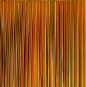Poured Lines: Light Orange, Blue, Yellow, Dark Green and Orange