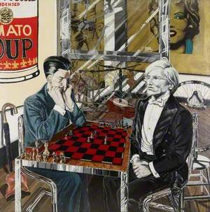 The Chance Meeting on an Operating Table of a Sewing Machine and an Umbrella: Andy Warhol and Marcel Duchamp