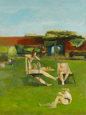 Four People Sunbathing