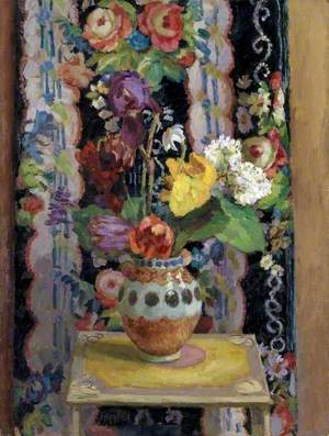 Flowers Against Chintz