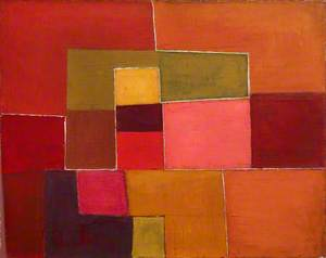 Abstract, Orange and Red