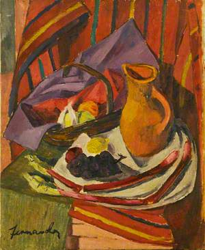 Untitled Still Life (Jug, Basket and Fruit)