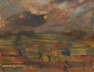 View of Allotment Gardens, Eton - Sun Behind Cloud