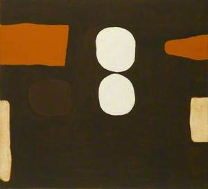 Dark Brown, Orange and White