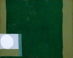 Green Painting with White Disc: 1964