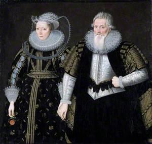 Sir Thomas Mansel (1556–1631), and Jane, née Pole, Lady Mansel