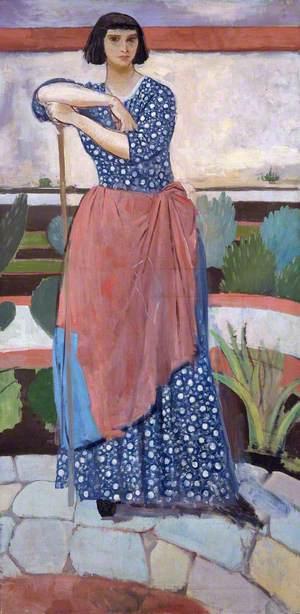 Dorelia McNeill (1881–1969), in the Garden at Alderney Manor