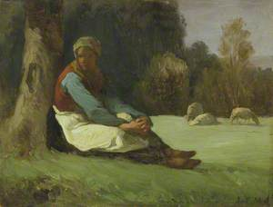 Seated Shepherdess