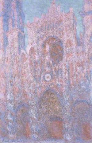 Rouen Cathedral: Setting Sun (Symphony in Pink and Grey)