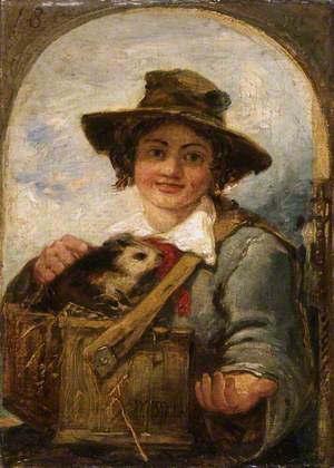 Italian Boy with a Guinea Pig