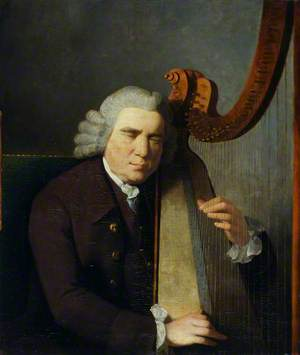The Blind Harpist, John Parry (1710?–1782)