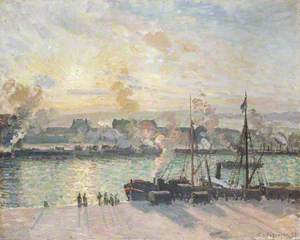 Sunset, Port of Rouen (Steamboats)