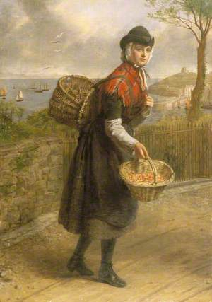 A Tenby Prawn Seller