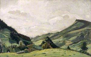 Landscape in the Auvergne