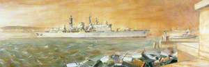 HMS 'Cardiff' at Cardiff Docks