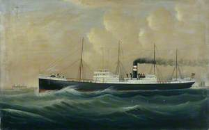 Unidentified Steamer of the Harrison Line