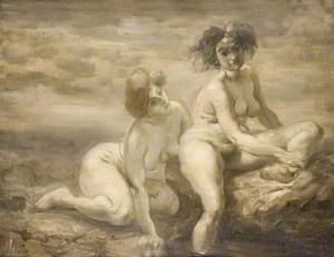 Study of Two Women Bathing