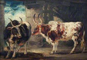 Two Extraordinary Oxen, the Property of the Earl of Powis