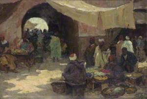 Eastern Bazaar Scene