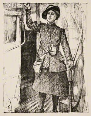In the Towns: A Bus Conductress