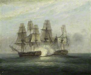 The engagement between H.M.S. Phoenix and the French Frigate Didon, 10 August 1805