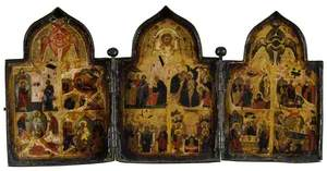 Icon Triptych: The Twelve Feasts of the Church