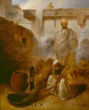 Assayer at Work in the Mint, Calcutta