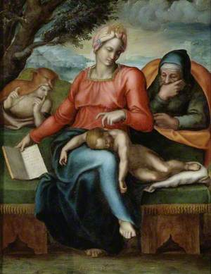 The Holy Family with the young St John