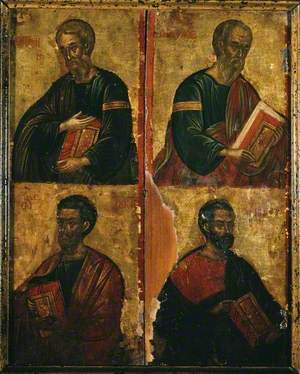 Verso: Icon of the Four Evangelists