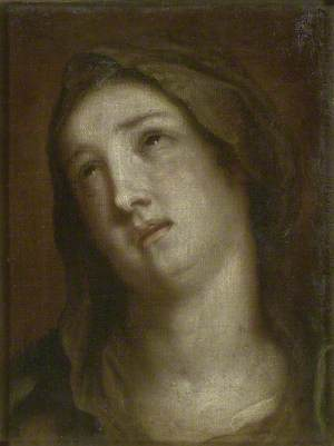 Head of the Virgin mourning