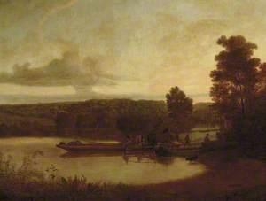 Horse-ferry: Sunset