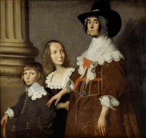 Hester Tradescant and her Stepchildren, John and Frances