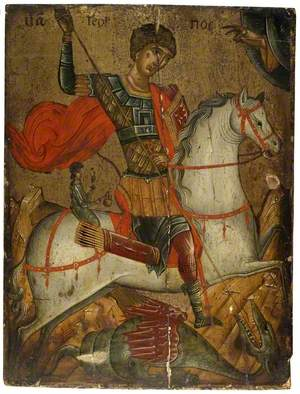 Icon of St George slaying the Dragon