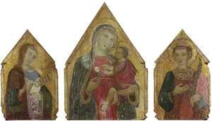 The Virgin and Child, with St John the Evangelist and St Catherine of Alexandria