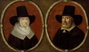 Portrait of a Couple, said to be John Tradescant the Elder and his Wife Elizabeth