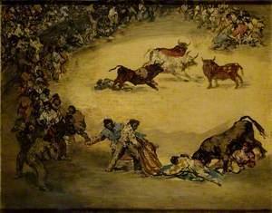 Scene at a Bullfight: Diversión de España