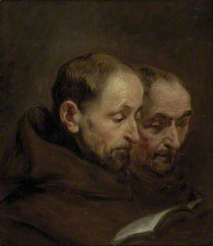 Two Monks reading