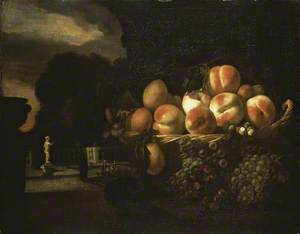 Still Life of Fruit in a formal Garden