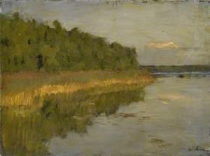 Copse by a Lake (Autumn)