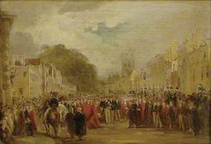 H.R.H. the Prince Regent received by the University and City of Oxford, June 14, 1814