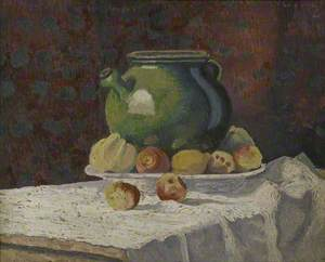 Still Life with a Green Jar