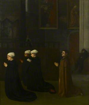 Interior of a Church with kneeling Figures