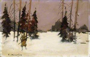 Winter Landscape with a Hunter
