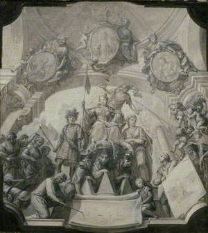 Design for an allegorical Ceiling Painting