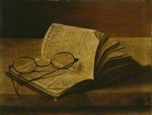 Still Life with an open Book and Spectacles