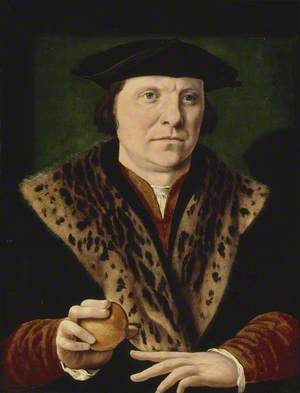 Portrait of a Man holding a Peach