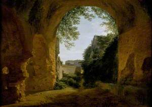 A View of a Garden, seen from within a Roman Vault