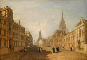 View of the High Street, Oxford