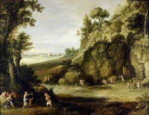 Mythological Landscape with Nymphs and Satyrs