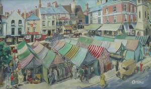 View of Market Square, Aylesbury